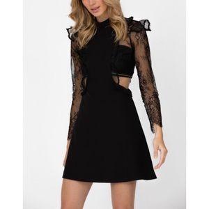 NWT Haute Rogue Mini Cutout Dress